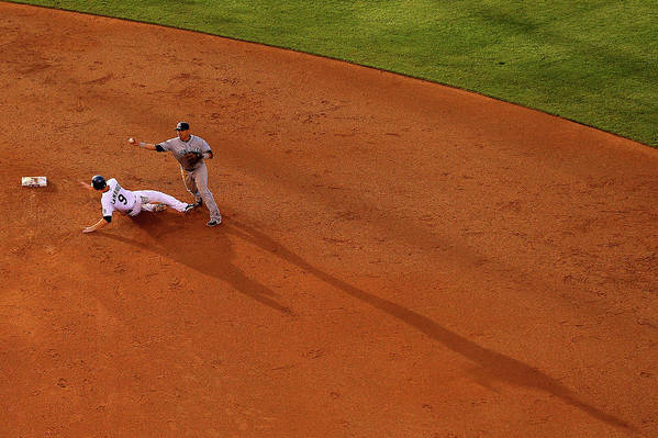 Double Play Art Print featuring the photograph Everth Cabrera and Dj Lemahieu by Justin Edmonds
