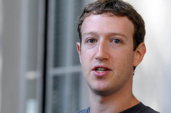 Employment And Labor Art Print featuring the photograph Facebook CEO Mark Zuckerberg Visits Computer Science Students At Harvard And MIT by Darren McCollester