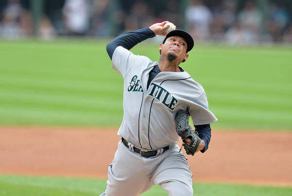 People Art Print featuring the photograph Felix Hernandez by Brian Kersey