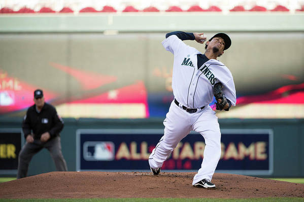People Art Print featuring the photograph Felix Hernandez by Ron Vesely