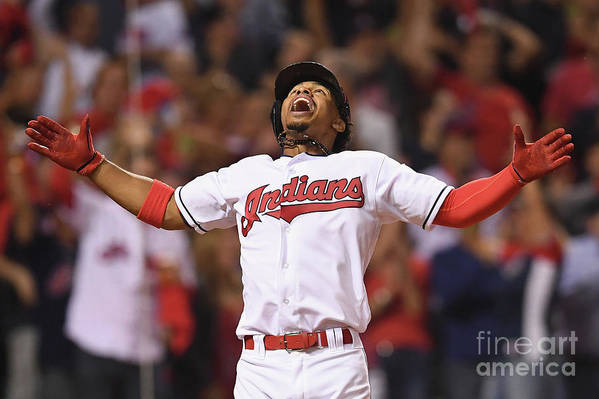 Three Quarter Length Art Print featuring the photograph Francisco Lindor by Jason Miller