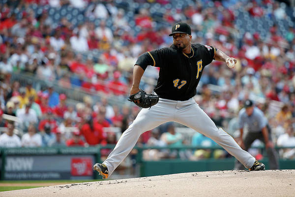 People Art Print featuring the photograph Francisco Liriano by Rob Carr