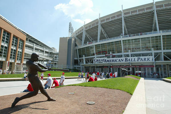 Great American Ball Park Art Print featuring the photograph Frank Robinson by Andy Lyons