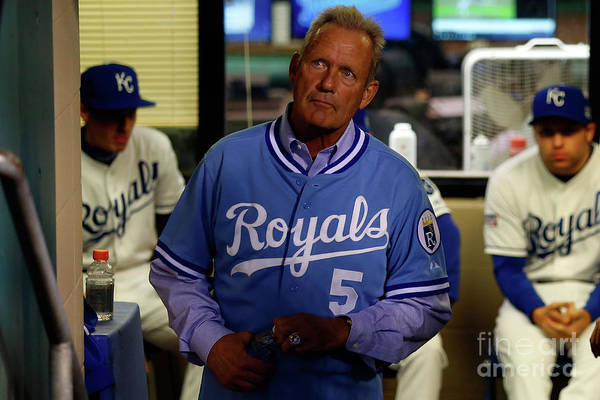 People Art Print featuring the photograph George Brett by Ed Zurga