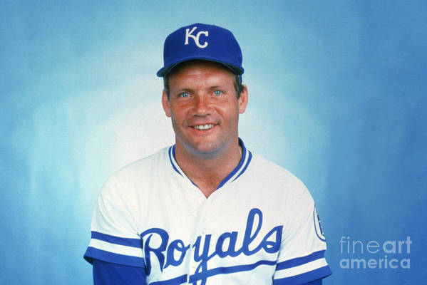 1980-1989 Art Print featuring the photograph George Brett by Mlb Photos