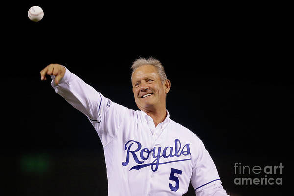 Game Two Art Print featuring the photograph George Brett by Pool