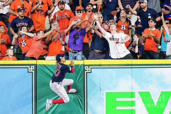 Game Two Art Print featuring the photograph George Springer and Mookie Betts by Billie Weiss/boston Red Sox