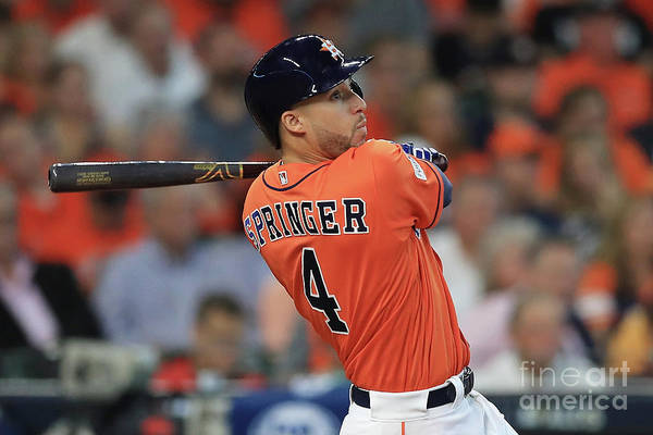 Game Two Art Print featuring the photograph George Springer by Ronald Martinez