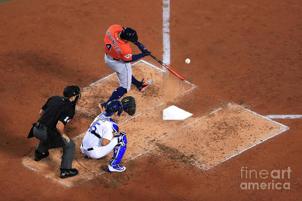Second Inning Art Print featuring the photograph George Springer by Sean M. Haffey