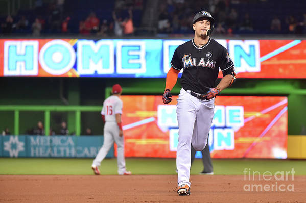 People Art Print featuring the photograph Giancarlo Stanton by Eric Espada