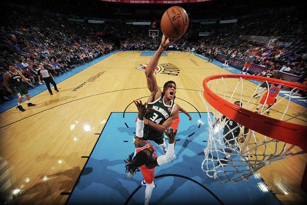 Nba Pro Basketball Art Print featuring the photograph Giannis Antetokounmpo by Bill Baptist