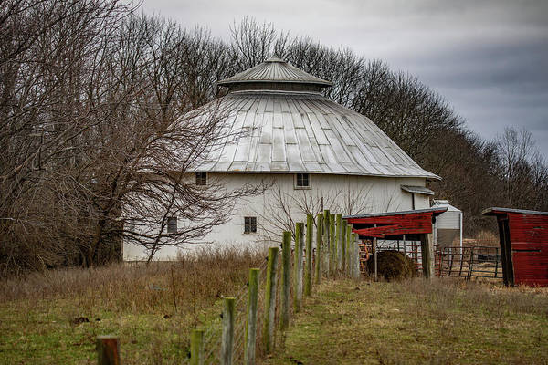 Landscape Art Print featuring the photograph Gwinnup Round Barn #3 by Scott Smith