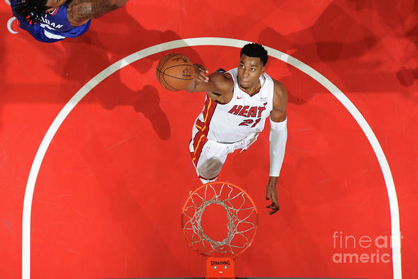 Nba Pro Basketball Art Print featuring the photograph Hassan Whiteside by Andrew D. Bernstein