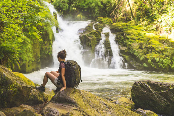 Recreational Pursuit Art Print featuring the photograph Hiking In The Pacific Northwest by FatCamera
