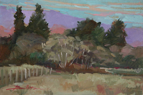Northern California Art Print featuring the painting Humbolt Fields by Betty Jean Billups