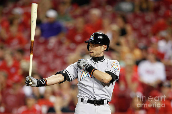 Great American Ball Park Art Print featuring the photograph Ichiro Suzuki by Joe Robbins