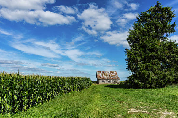 Landscape Art Print featuring the photograph Indiana Barn #189 by Scott Smith