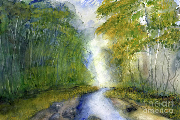 Creek Art Print featuring the painting Fern Dell Creek Early This MOrning by Randy Sprout