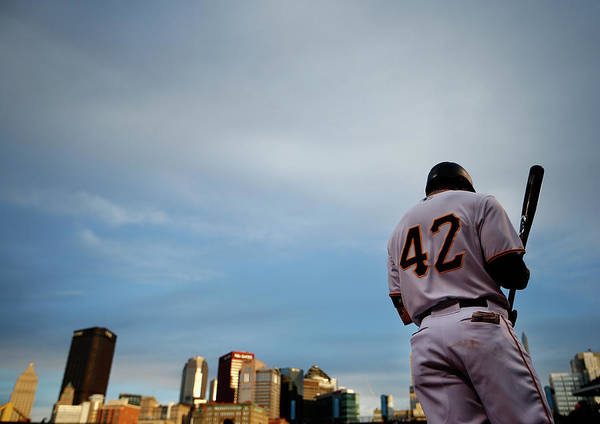 Second Inning Art Print featuring the photograph Jackie Robinson by Jared Wickerham