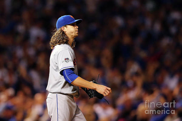 Jacob Degrom Art Print featuring the photograph Jacob Degrom and Jorge Soler by Elsa