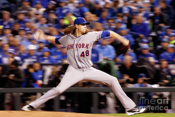 Jacob Degrom Art Print featuring the photograph Jacob Degrom by Christian Petersen
