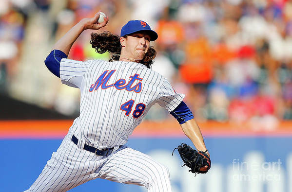 Jacob Degrom Art Print featuring the photograph Jacob Degrom by Jim Mcisaac