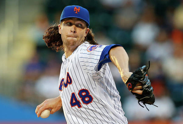 Jacob Degrom Art Print featuring the photograph Jacob Degrom by Rich Schultz