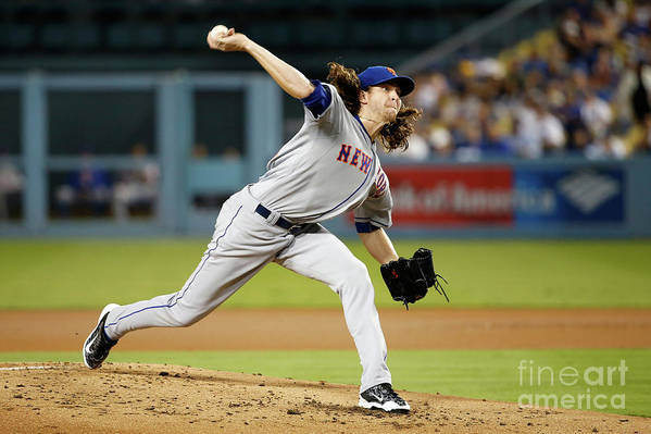 Jacob Degrom Art Print featuring the photograph Jacob Degrom by Sean M. Haffey