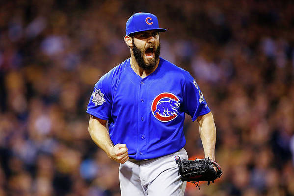 Playoffs Art Print featuring the photograph Jake Arrieta by Jared Wickerham