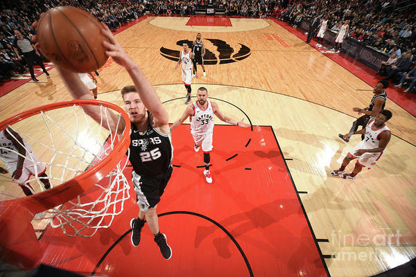 Nba Pro Basketball Art Print featuring the photograph Jakob Poeltl by Ron Turenne