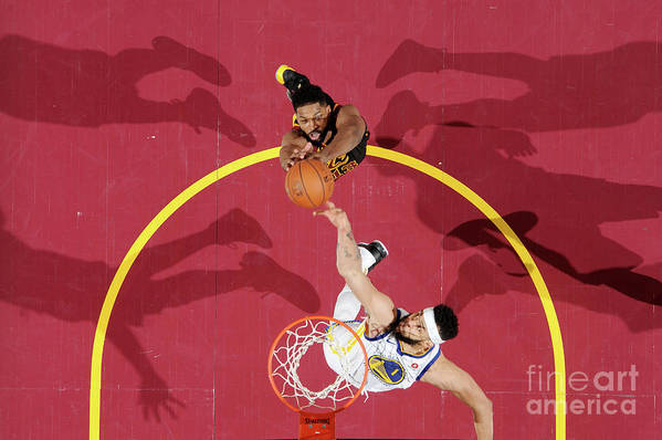 Playoffs Art Print featuring the photograph Javale Mcgee and Tristan Thompson by Andrew D. Bernstein