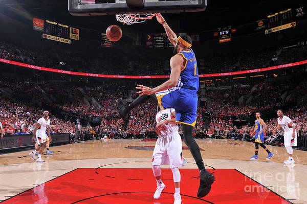 Playoffs Art Print featuring the photograph Javale Mcgee by Sam Forencich