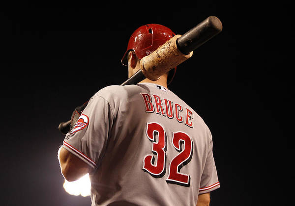 American League Baseball Art Print featuring the photograph Jay Bruce by Justin K. Aller