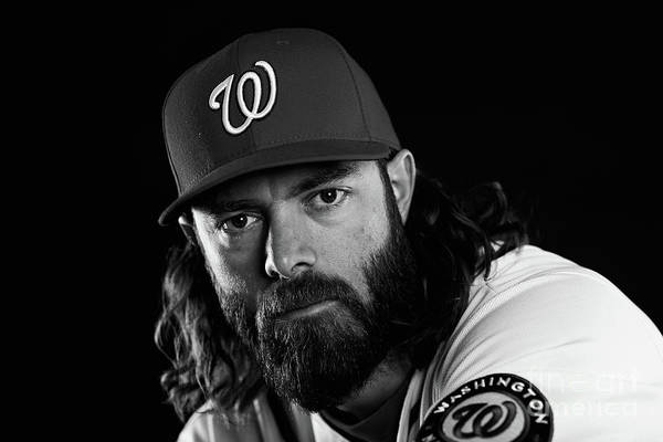 Media Day Art Print featuring the photograph Jayson Werth by Chris Trotman