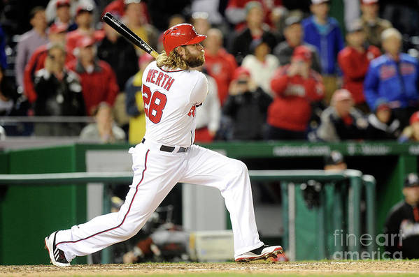 American League Baseball Art Print featuring the photograph Jayson Werth by Greg Fiume