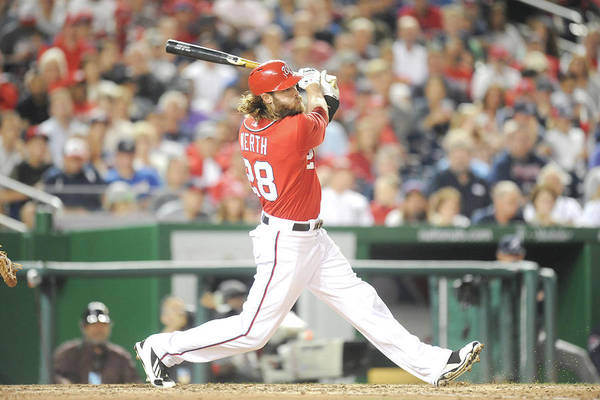 Motion Art Print featuring the photograph Jayson Werth by Mitchell Layton