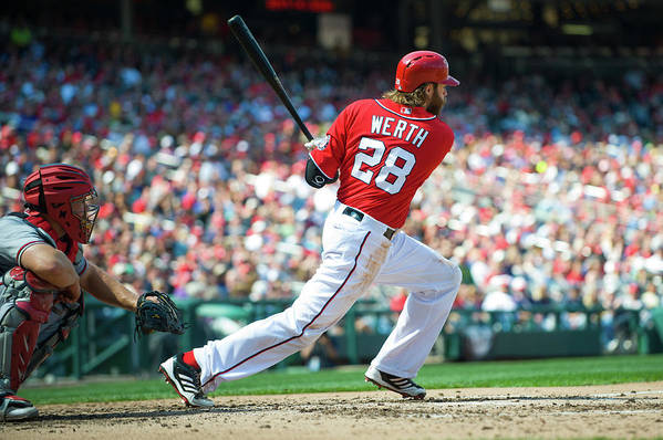 Motion Art Print featuring the photograph Jayson Werth by Rob Tringali