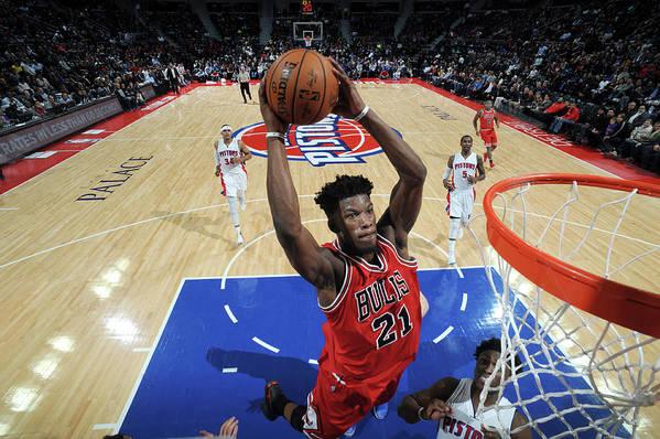 Nba Pro Basketball Art Print featuring the photograph Jimmy Butler by Chris Schwegler
