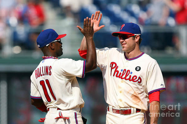 Citizens Bank Park Art Print featuring the photograph Jimmy Rollins and Chase Utley by Hunter Martin