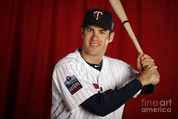 Media Day Art Print featuring the photograph Joe Mauer by Gregory Shamus