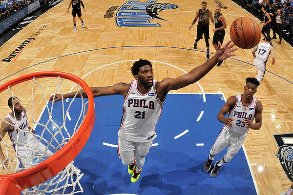 Nba Pro Basketball Art Print featuring the photograph Joel Embiid by Fernando Medina