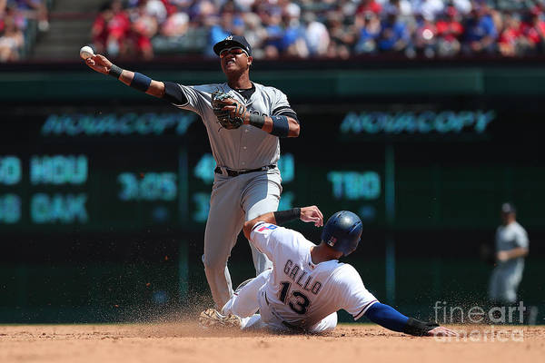 People Art Print featuring the photograph Joey Gallo and Starlin Castro by Richard Rodriguez