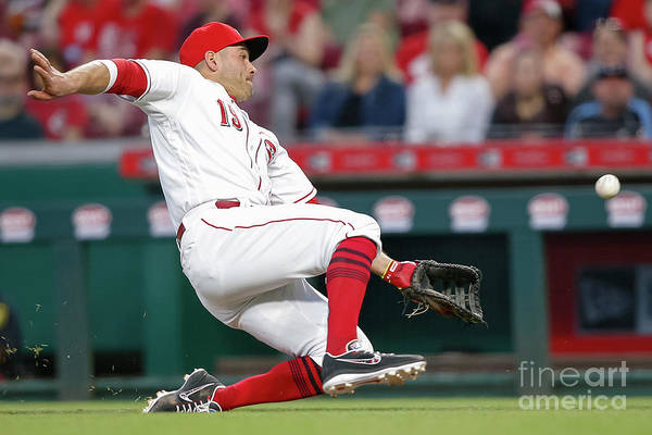 Great American Ball Park Art Print featuring the photograph Joey Votto by Michael Hickey