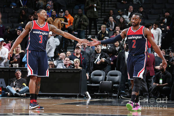 Nba Pro Basketball Art Print featuring the photograph John Wall and Bradley Beal by Nathaniel S. Butler