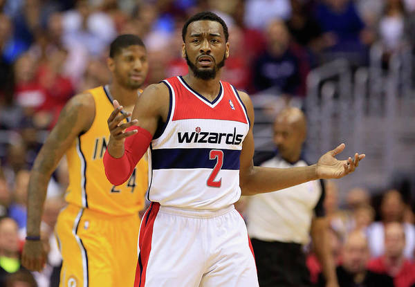 Playoffs Art Print featuring the photograph John Wall by Rob Carr
