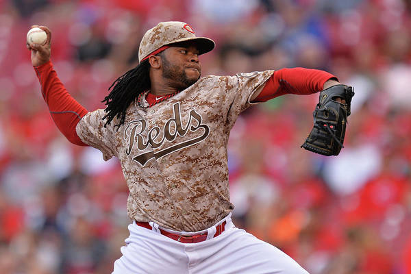 Great American Ball Park Art Print featuring the photograph Johnny Cueto by Jamie Sabau