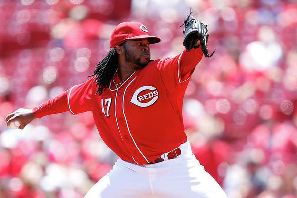 Great American Ball Park Art Print featuring the photograph Johnny Cueto by Joe Robbins