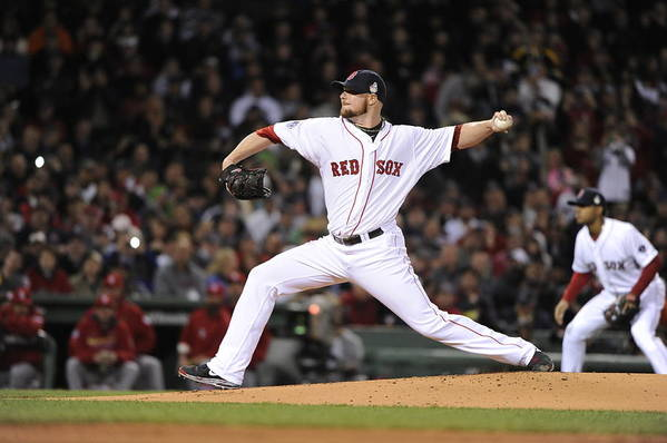 Playoffs Art Print featuring the photograph Jon Lester by Ron Vesely