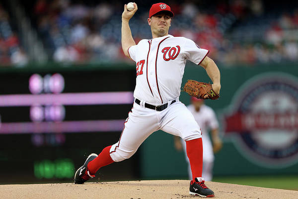 Working Art Print featuring the photograph Jordan Zimmermann by Patrick Smith