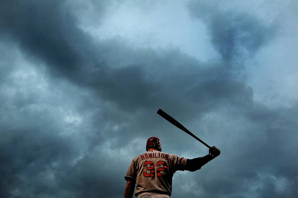 American League Baseball Art Print featuring the photograph Josh Hamilton by Patrick Smith